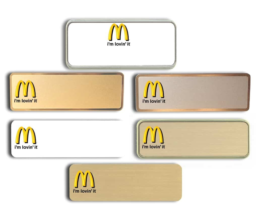 McDonalds Name Tags Im Lovin it