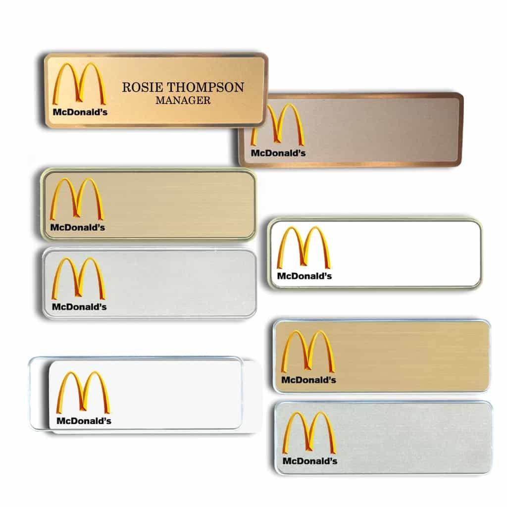 McDonald's Name Tags & Badges