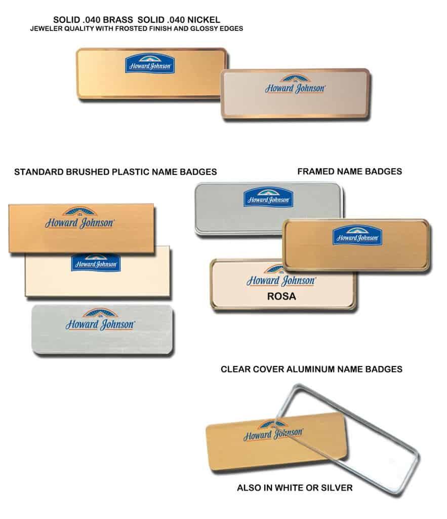 howard johnson name badges