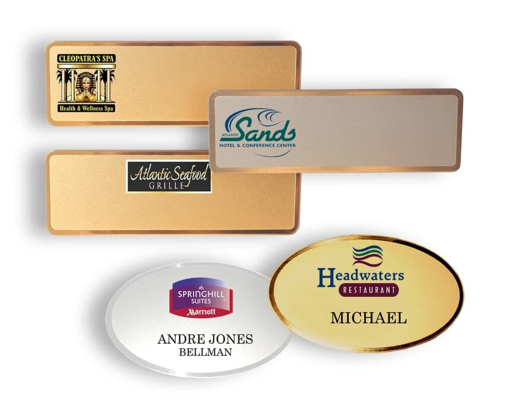 Name Badge: Metal Name Tags
