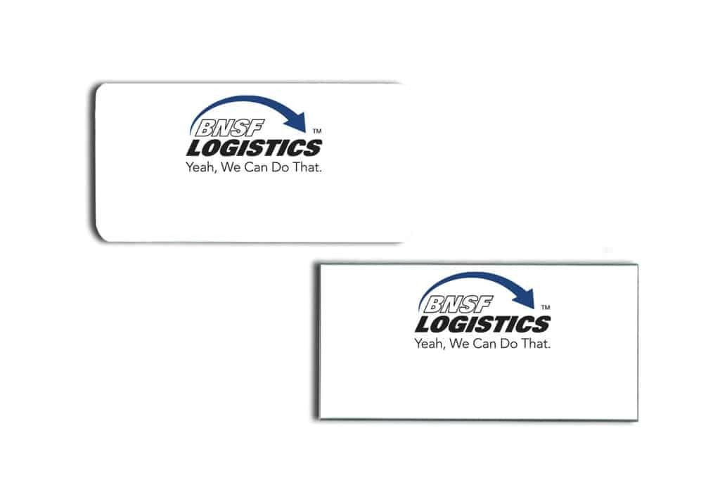 BNSF Logistics Name Tags Badges