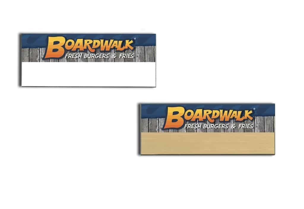 Boardwalk Burgers Name Tags Badges