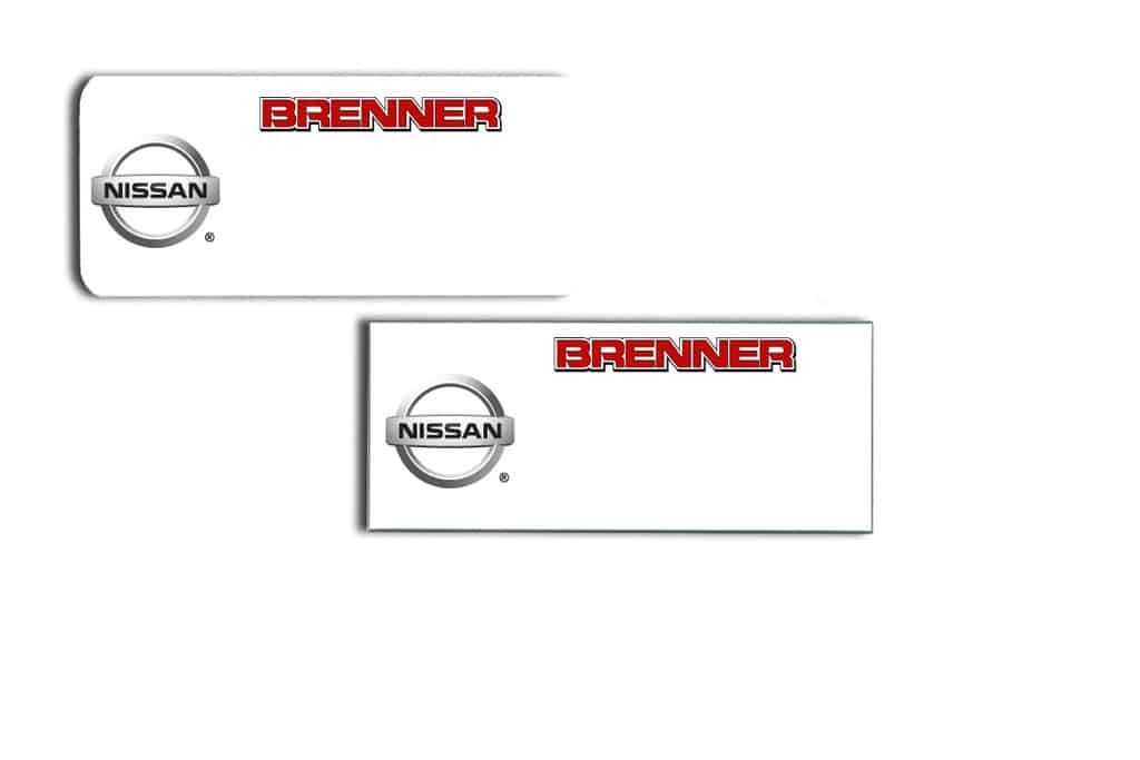 Brenner Nissan Name Tags Badges