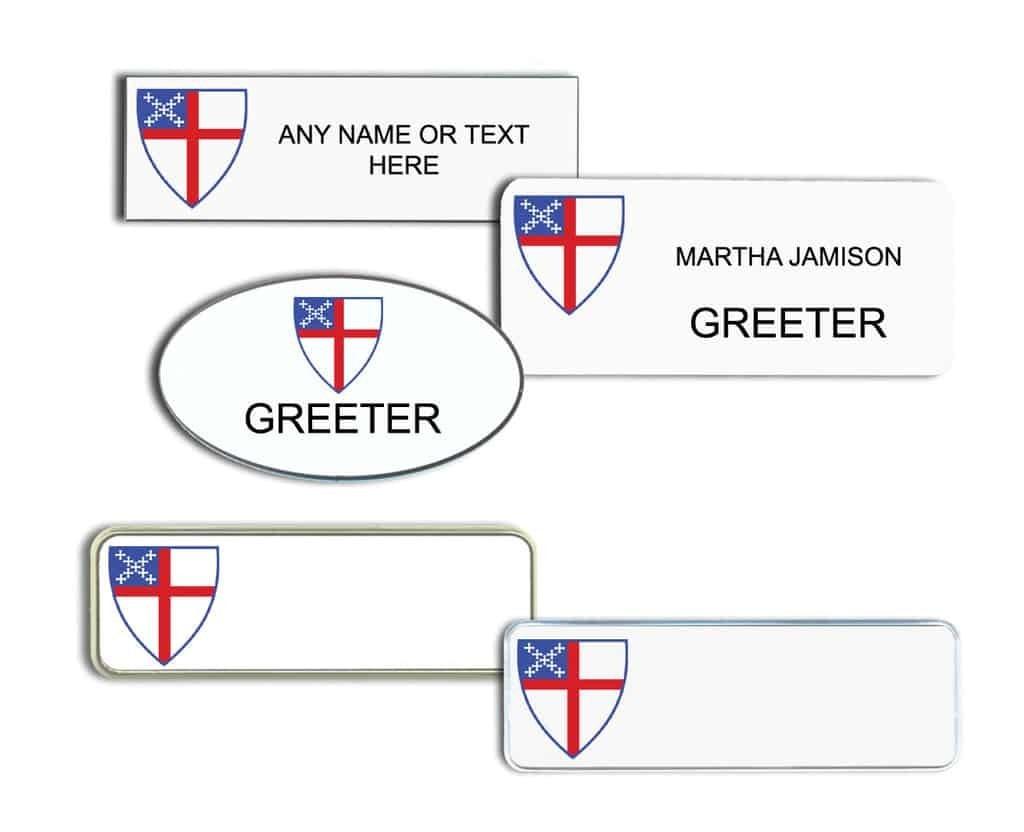 Episcopal Church Name Tags Badges