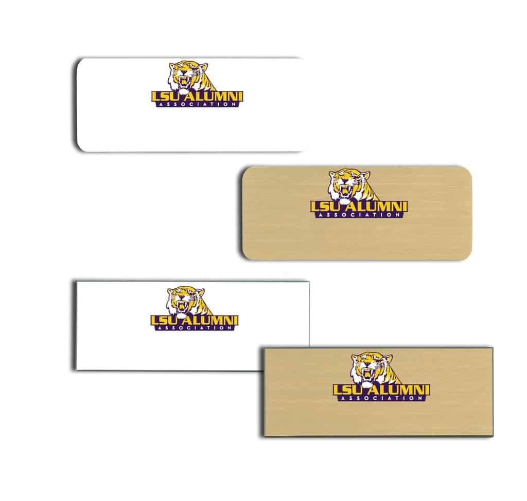 LSU Alumni Name Tags Badges