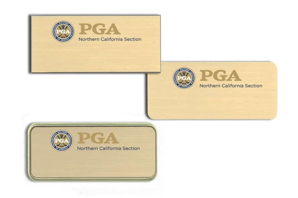 PGA Golf Name Tags Badges