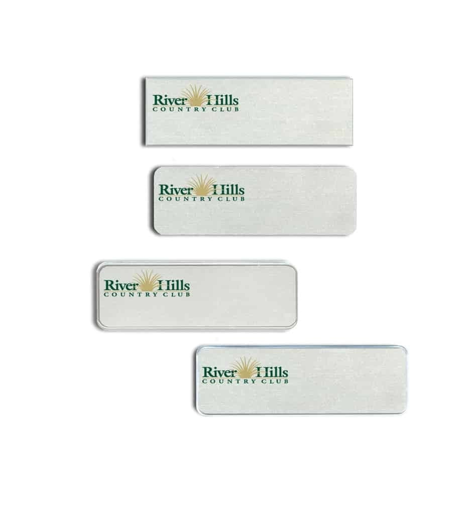 River Hills Country Club Name Tags Badges