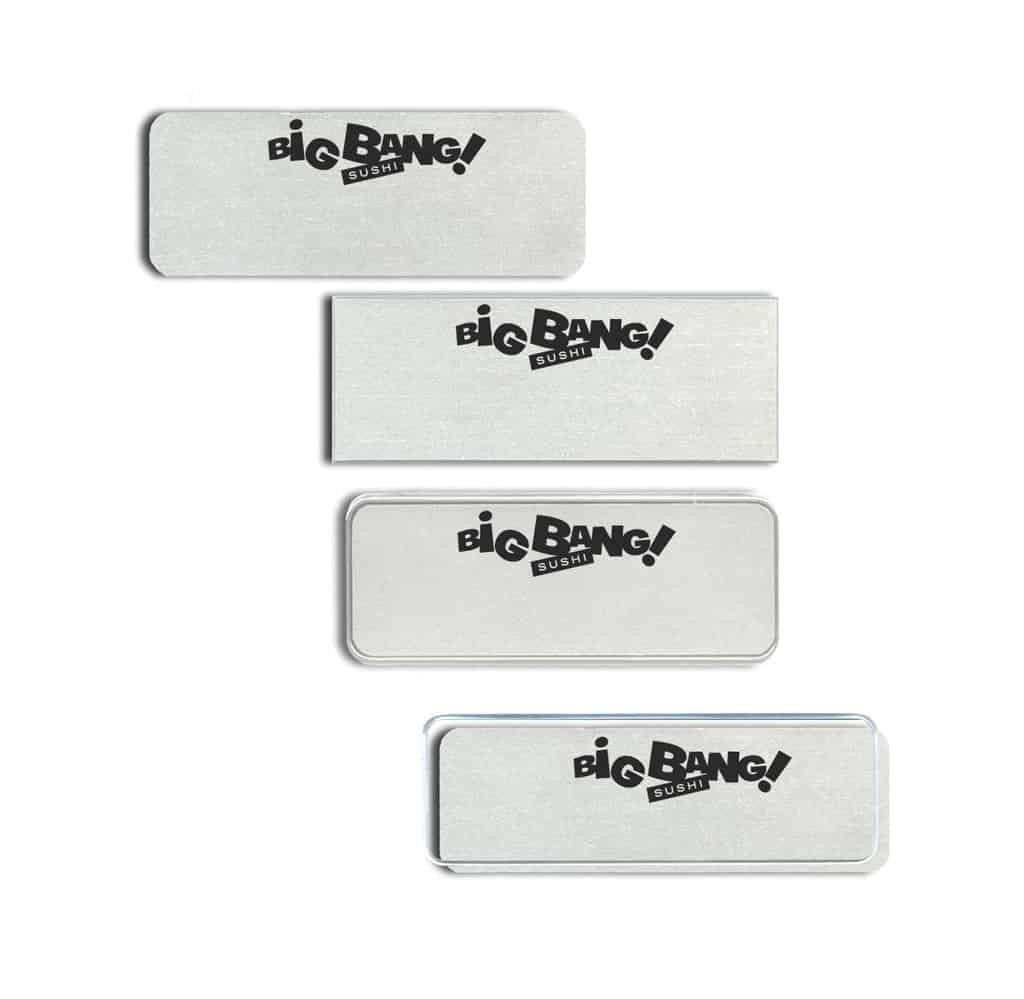 Big Bang Sushi Name Tags Badges