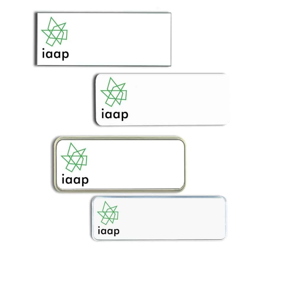 IAAP Name Tags Badges
