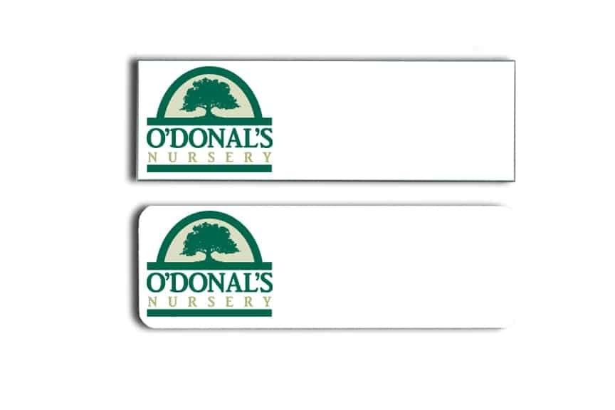 O'Donal's Nursery Name Tags Badges