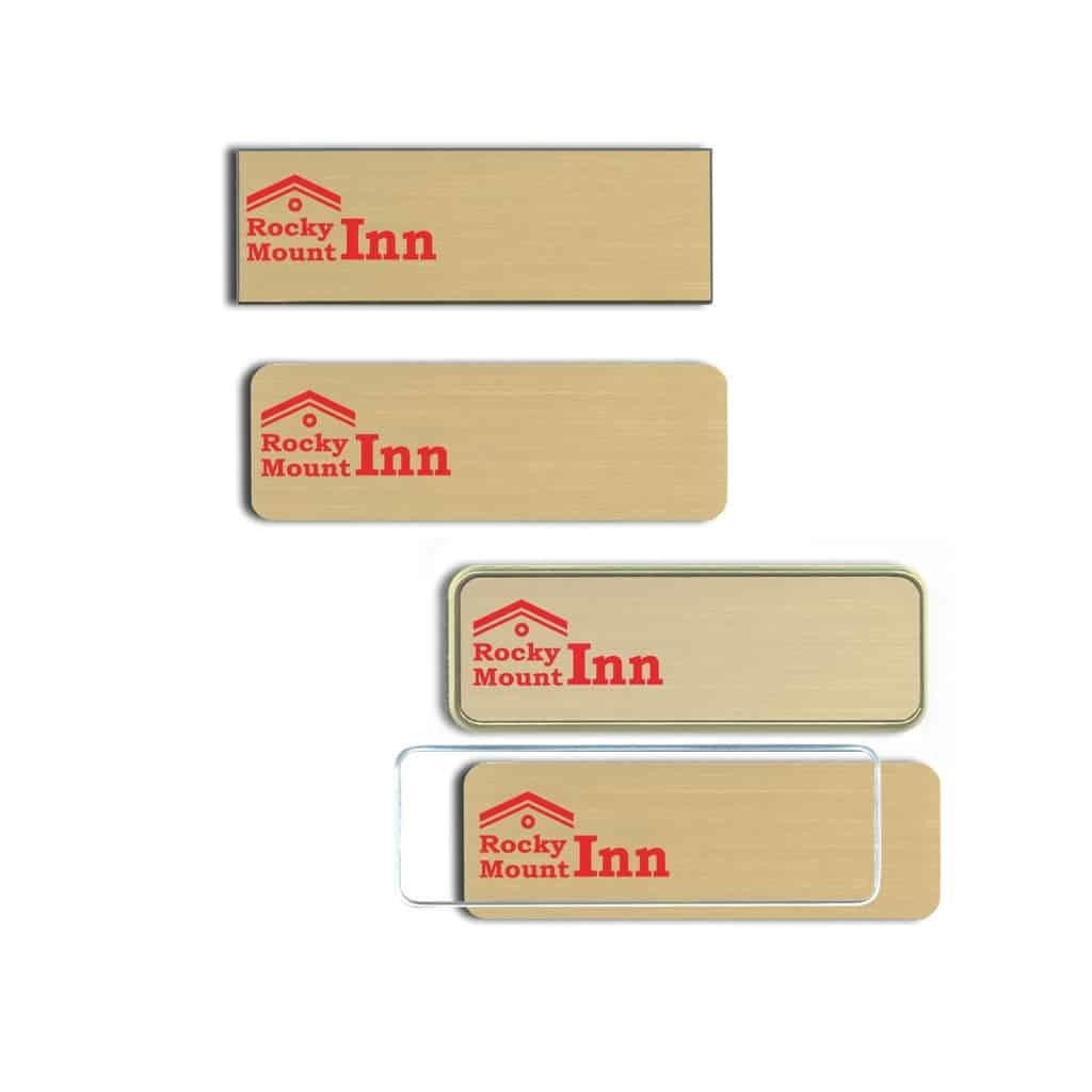 Rocky Mount Inn Name Tags Badges