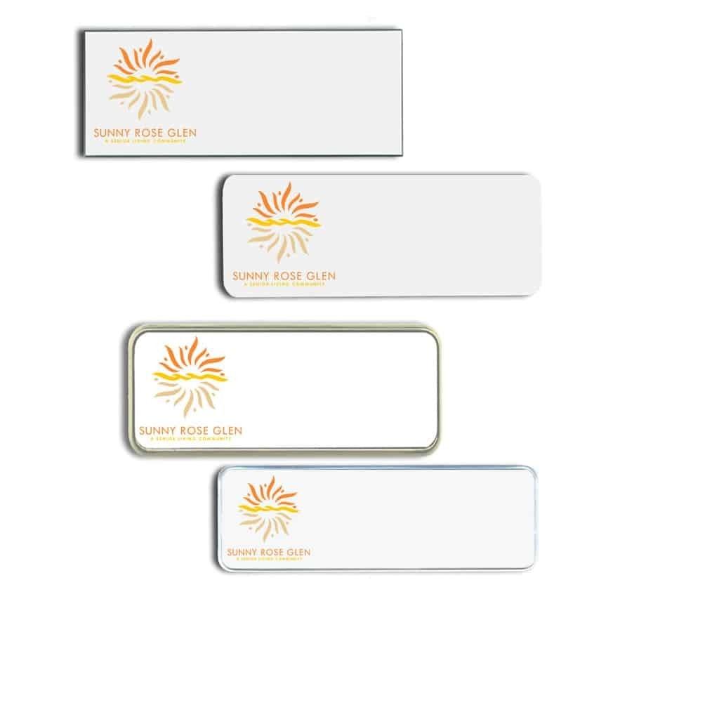 Sunny Rose Glen Name Tags Badges