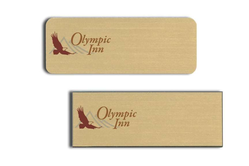Olympic Inn Name Tags Badges