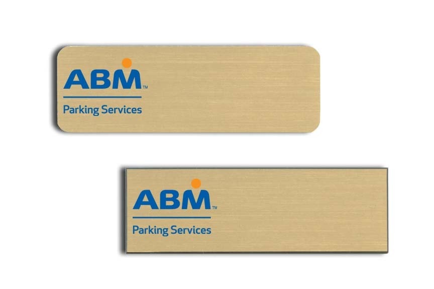 ABM Parking Services Name Tags Badges