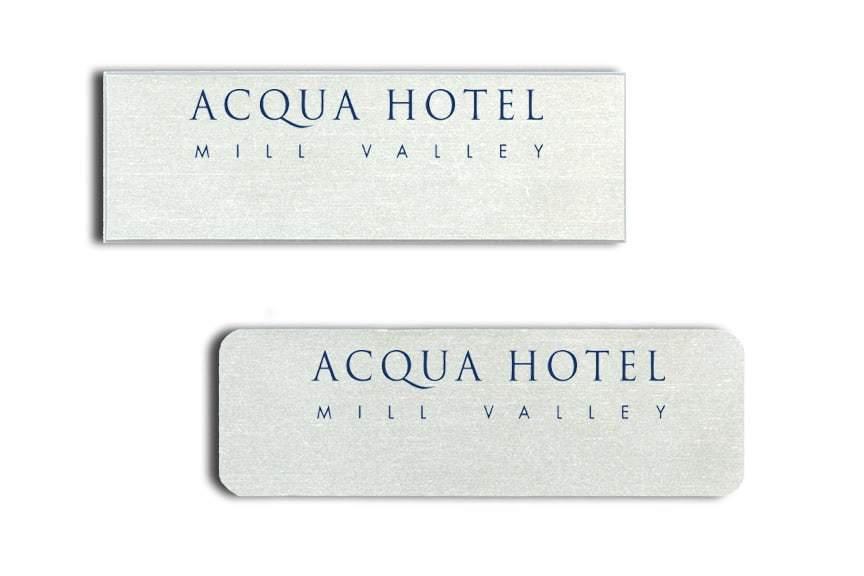 Acqua Hotel Name Tags Badges