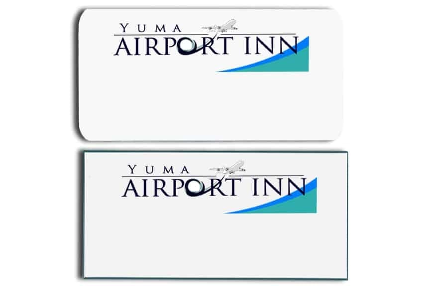 Airport Inn Yuma Name Tags Badges