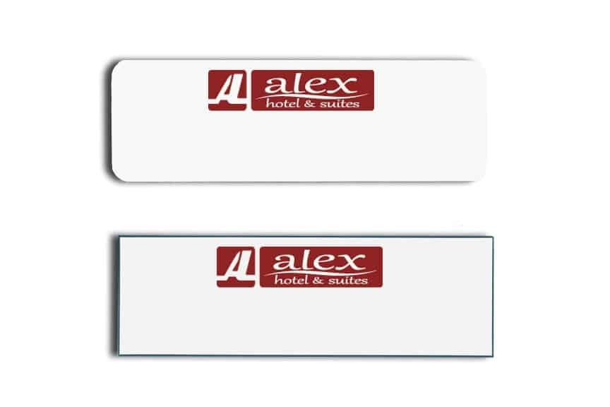 Alex Hotel and Suites Name Tags Badges
