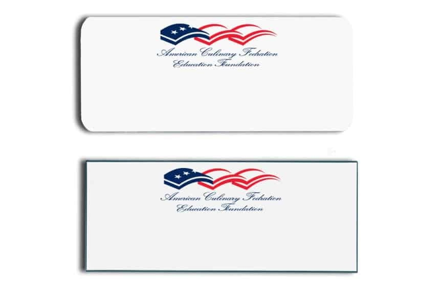 American Culinary Name Tags Badges