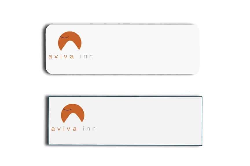 Aviva Inn Name Tags Badges