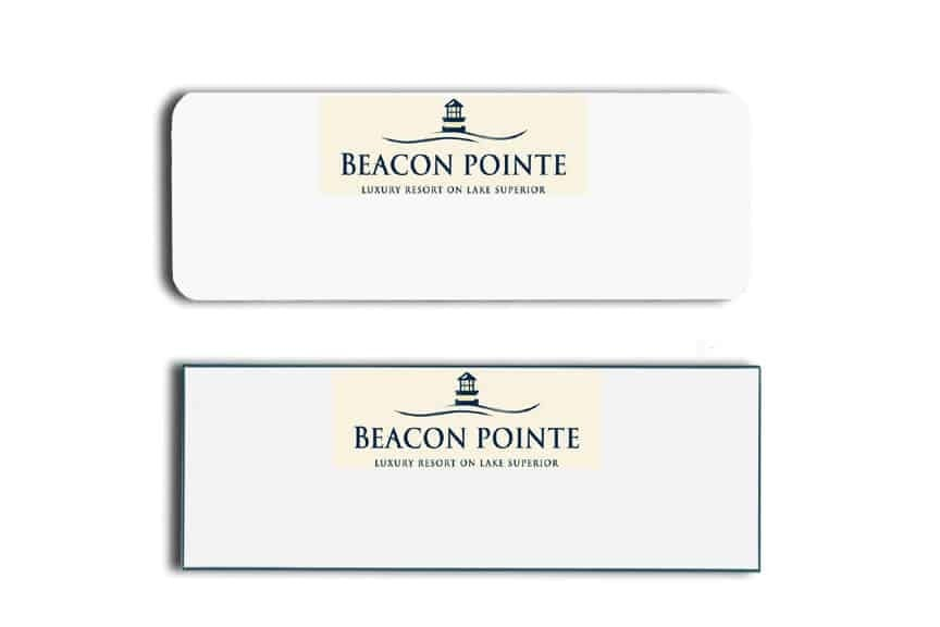 Beacon Pointe Resort Name Tags Badges