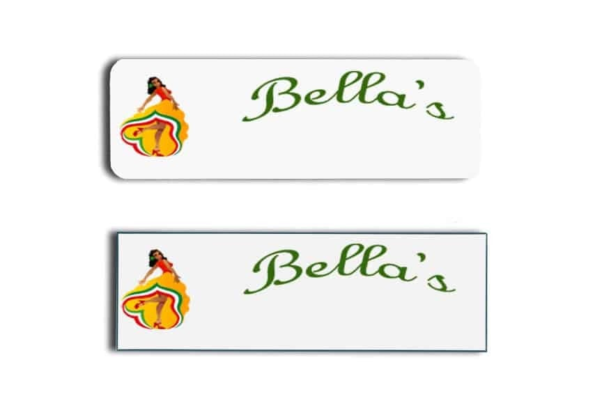Bella's Name Tags Badges