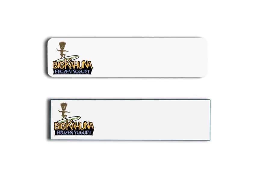 Big Kahuna Yogurt Name Tags Badges