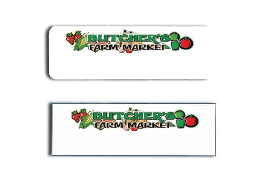 Butcher's Farm Market Name Tags Badges
