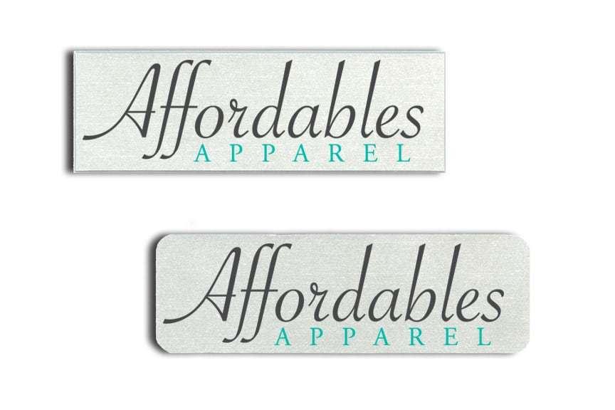Affordables Apparel Name Tags Badges