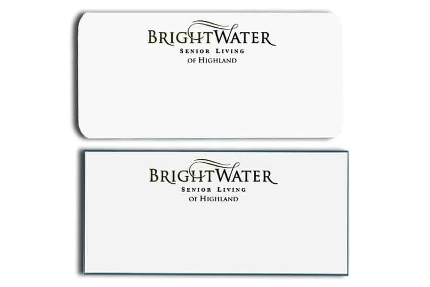 BrightWater Senior Living Name Tags Badges