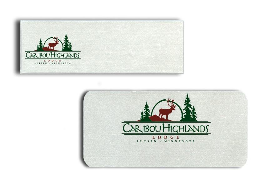Caribou Highlands name badges