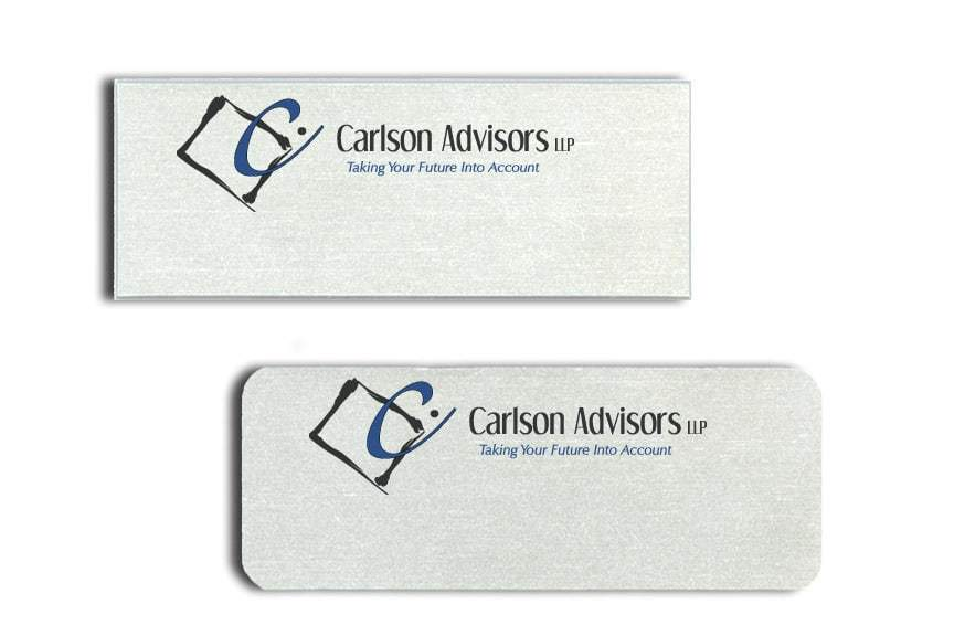 Carlson Advisors Name Tags Badges
