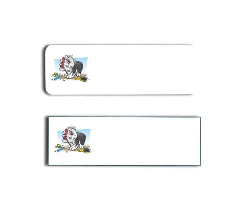 Clean Pooch Name Tags Badges