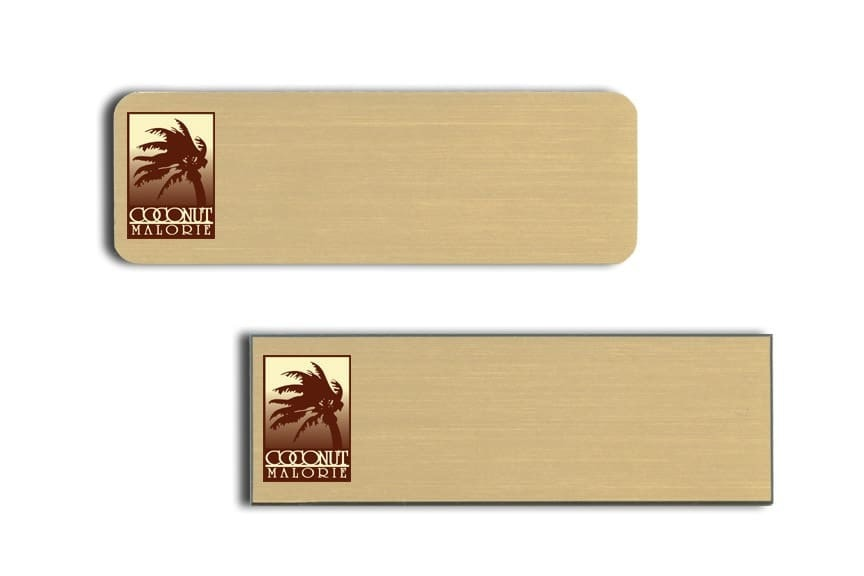 Coconut Malorie Name Tags Badges