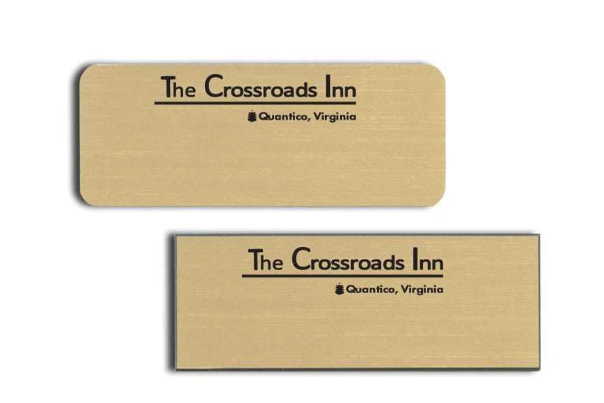 Crossroads Inn Name Tags Badges