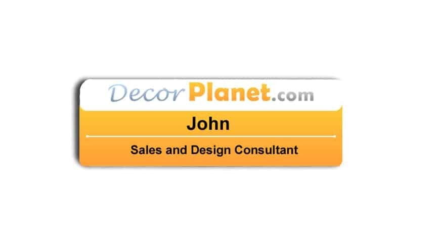 DecorPlanet.com Name Tags Badges