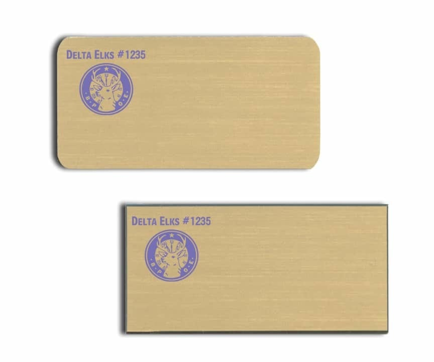 Delta Elks Name Tags Badges