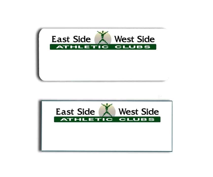 East Side West Side Athletic Clubs Name Tags Badges