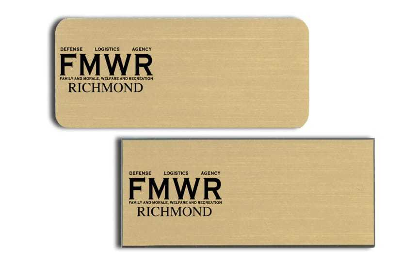 FMWR Name Tags Badges