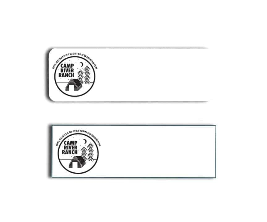 Girl Scouts Western Washington Name Tags Badges