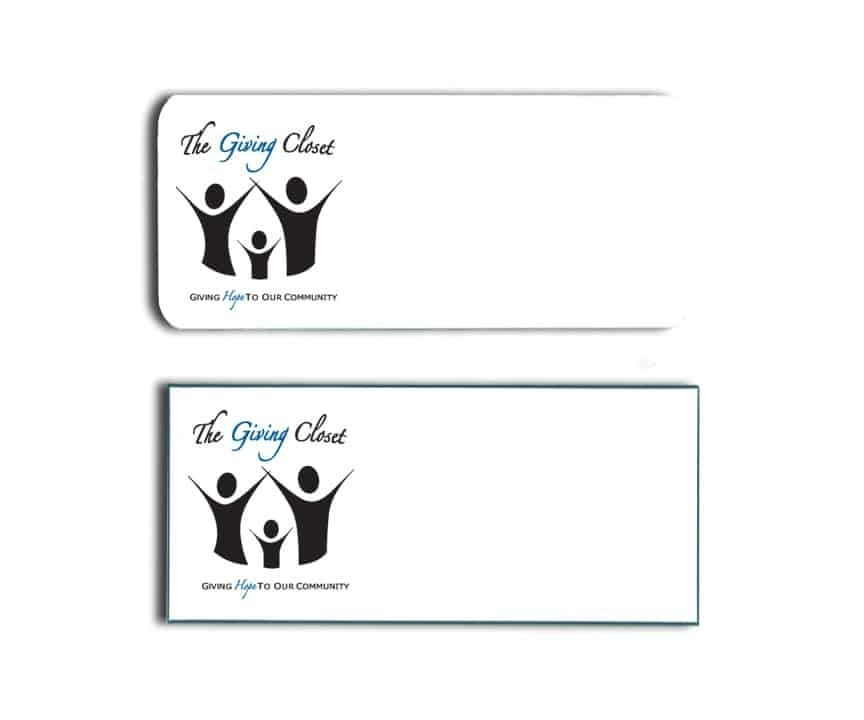 Giving Closet Name Tags Badges