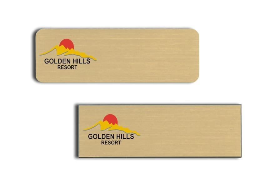 Golden Hills Resort Name Tags Badges