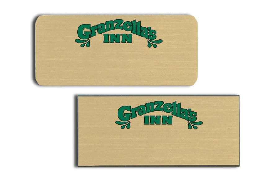 Granzellas Inn Name Tags Badges