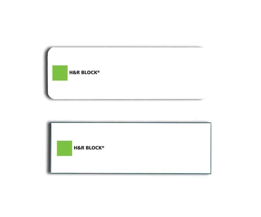 H & R Block Name Tags Badges