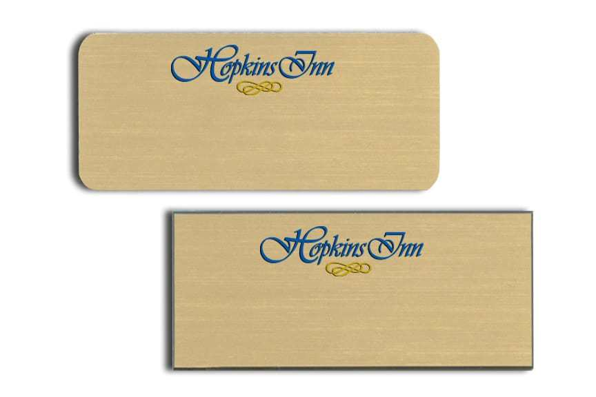 Hopkins Inn Name Tags Badges