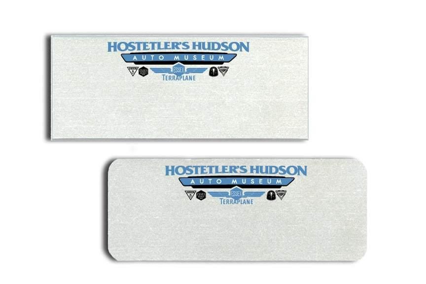 Hostetler's Hudson Auto Museum Name Tags Badges