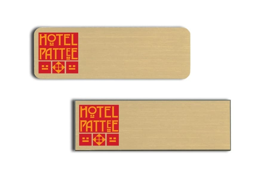 Hotel Pattee Name Tags Badges