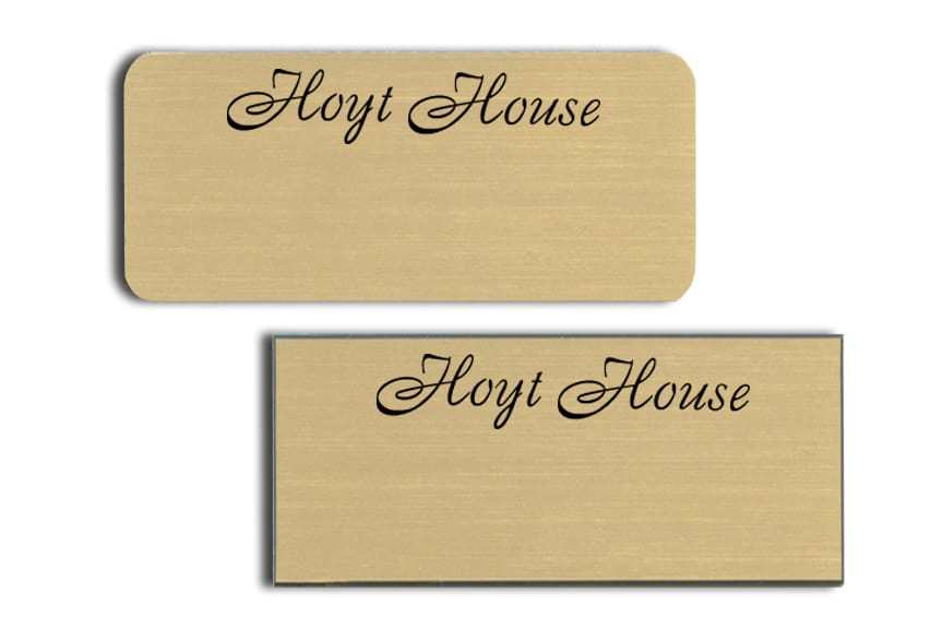 Hoyt House Name Tags Badges