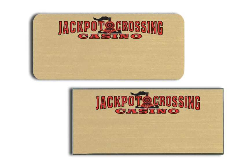 Jackpot Crossing Casino Name Tags Badges