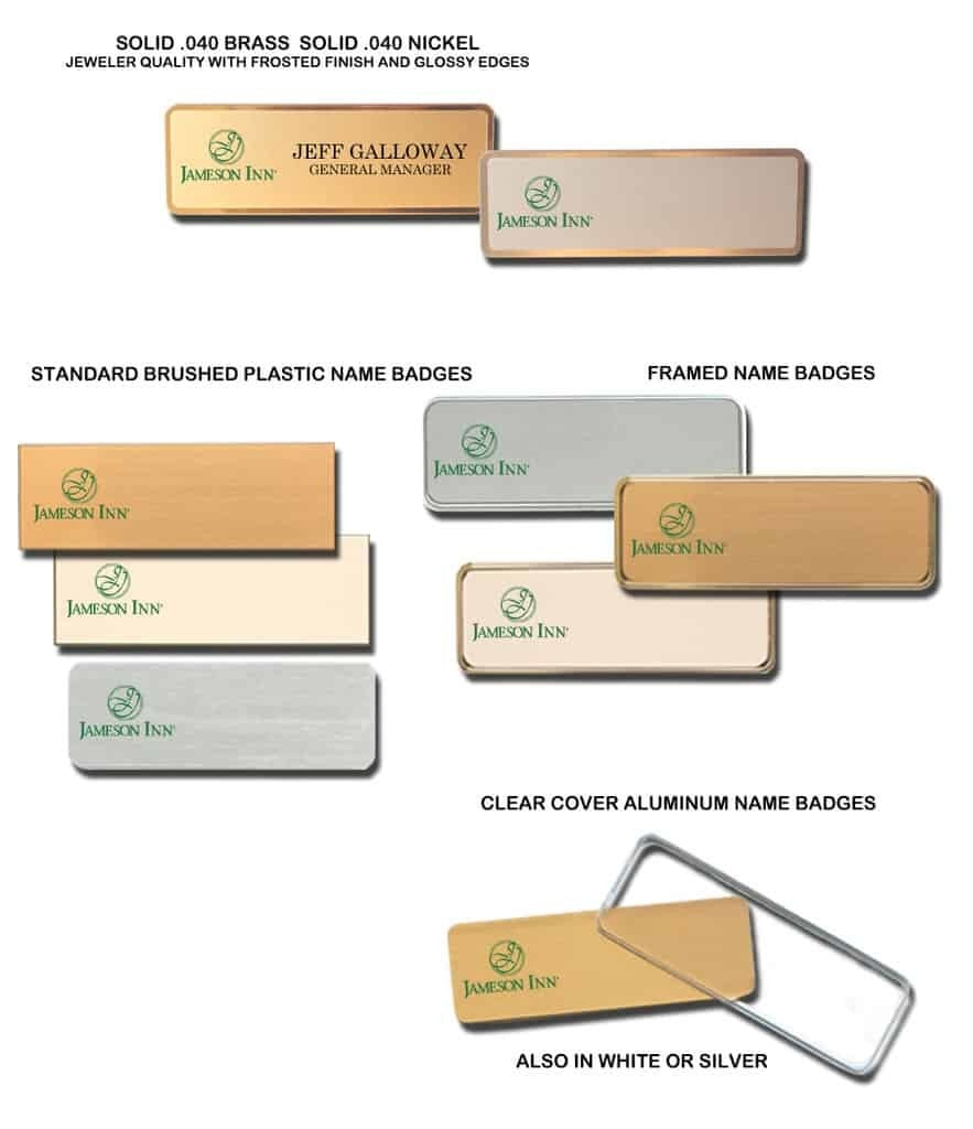 Jameson Inn Name Tags Badges