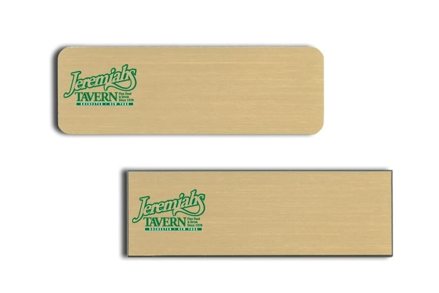 Jeremiahs Tavern Name Tags Badges